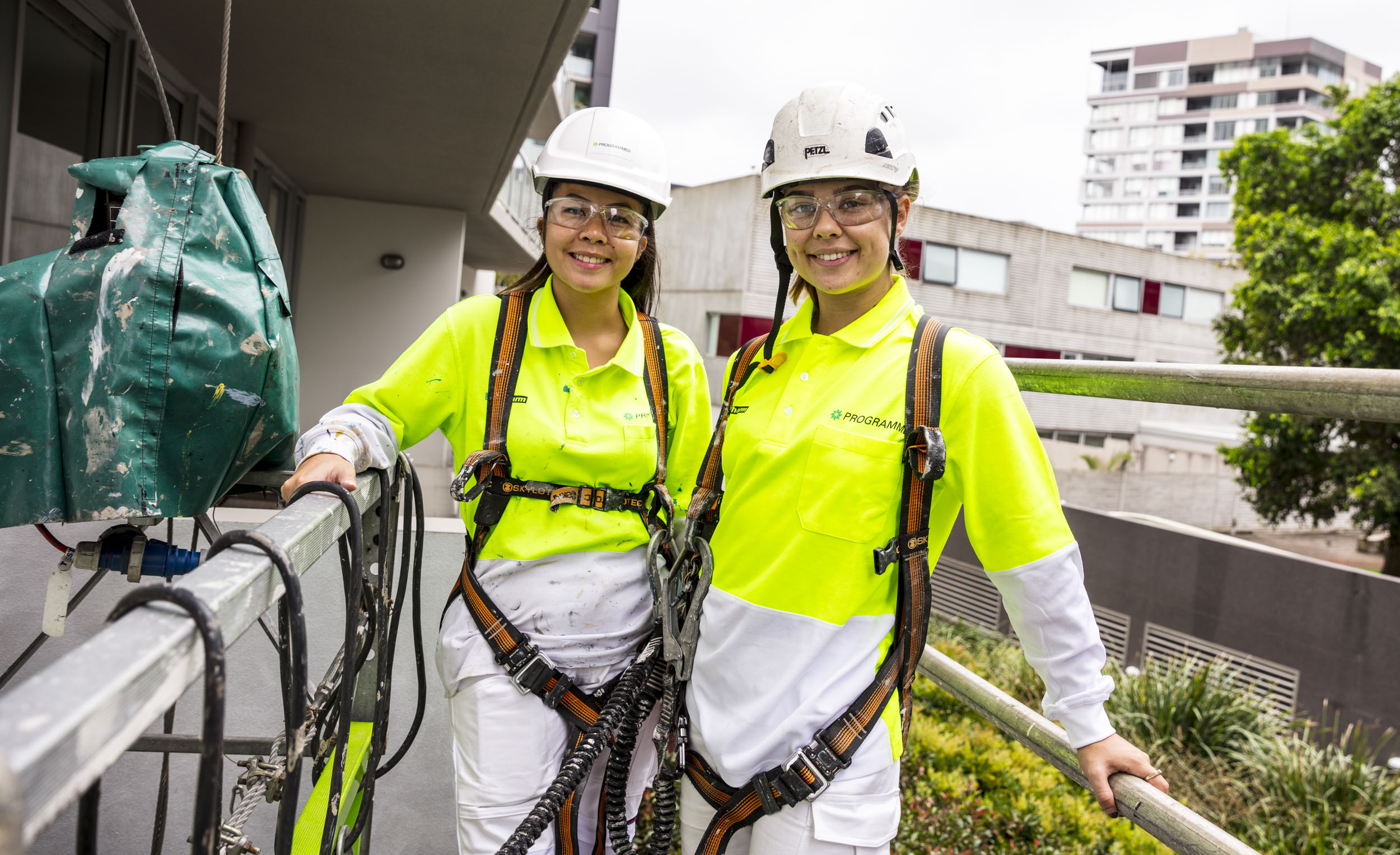 Two Programmed female tradies